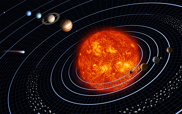 a graphic of the solar system